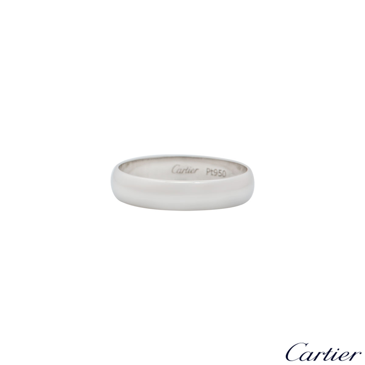 Cartier Platinum 1895 Wedding Ring B4059564